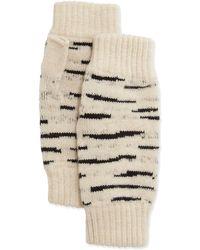 Rosie Sugden - Cashmere Tiger-stripe Fingerless Gloves - Lyst
