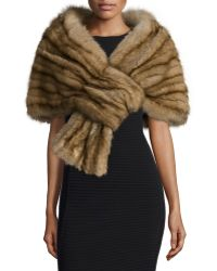 J. Mendel - Sable Fur Pull-through Stole - Lyst