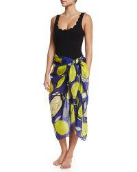 Anna Coroneo - Lemons Classic Voile Pareo - Lyst