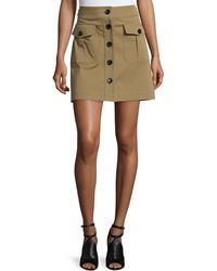 Burberry Brit - Button-front Skirt With Pockets - Lyst