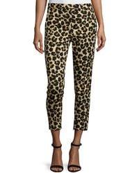 Edun - Leopard-print Skinny Ankle Jeans - Lyst