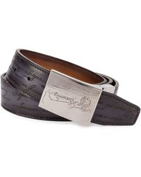 Berluti - Scritto Leather Belt - Lyst