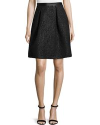Nicole Miller Artelier - Feather Skirt With Studded Waist - Lyst