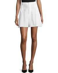 Co. - A-line Leaf-jacquard Shorts - Lyst