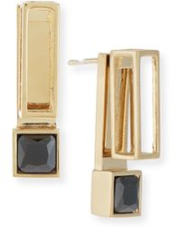 Jason Wu - Square Crystal Jacket Earrings - Lyst