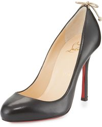 us replica shoes christian louboutin - Christian louboutin Very Prive Leopard-Print Patent Pumps in ...