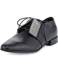 CoSTUME NATIONAL - Embellished Leather Oxford - Lyst