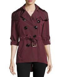 Burberry Brit - Knightsdale Hooded Relaxed Trenchcoat - Lyst