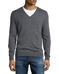 Burberry Brit | Dockley Wool V-neck Sweater | Lyst
