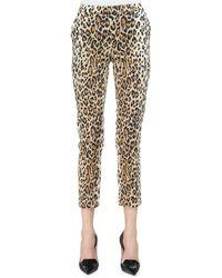 Carolina Herrera - Cheetah-print Skinny Cropped Pants - Lyst