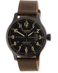 Filson - 42mm Mackinaw Field Watch With Leather Strap - Lyst