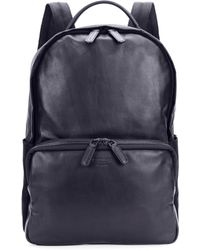 Giorgio Armani - Solid Leather Backpack - Lyst
