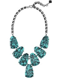 Kendra Scott - Harlow Teal Magnesite Statement Necklace - Lyst