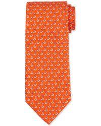 Ferragamo - Sailboat-printed Silk Tie - Lyst