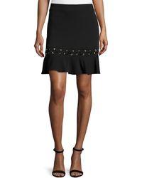 Karina Grimaldi - Debir Lace-detail Skirt - Lyst