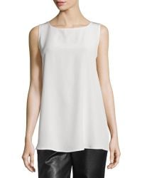 Misook Collection - Silk Georgette Tank - Lyst