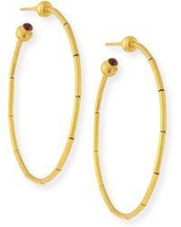 Gurhan - 24k Small Rain Hoop Earrings - Lyst