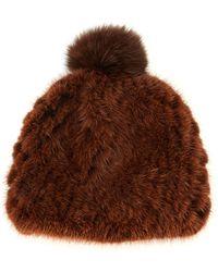 Pologeorgis - Mink Fur Beanie Hat - Lyst