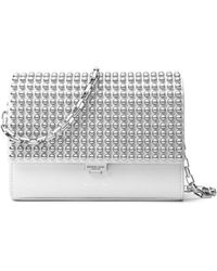 Michael Kors - Yasmeen Small Studded Leather Clutch - Lyst