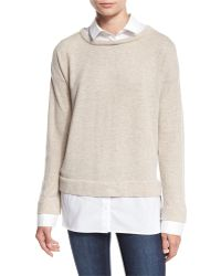 Misook Collection - Layered Long-sleeve Twofer Top - Lyst