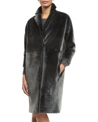 Kaufman Franco - Long Shearling Coat - Lyst
