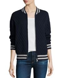 Autumn Cashmere - Cashmere-blend Quilted Bomber Jacket - Lyst