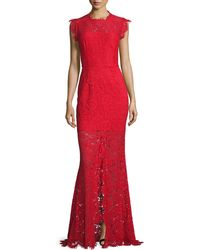 Rachel Zoe - Sleeveless Floral Lace Column Gown - Lyst
