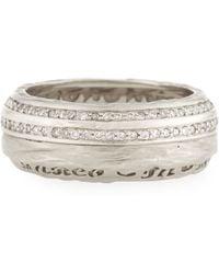 Marco Ta Moko - The Other Half 18k White Gold Pavé Diamond Ring - Lyst