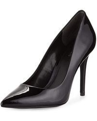 MICHAEL Michael Kors - Claire Patent Pointed-toe Pump - Lyst