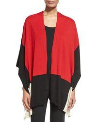 Joan Vass - Color-block Cotton Cape - Lyst