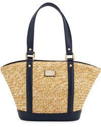 St. John - Woven Straw Tote Bag - Lyst