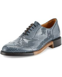 The Office Of Angela Scott - The Meyer Patent Leather Oxford Shoe - Lyst