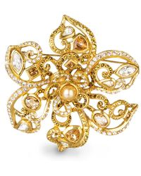 Jay Strongwater - Large Flower Scroll Pin - Lyst