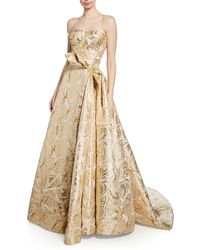 Zac Posen - Butterfly-jacquard Strapless Gown - Lyst