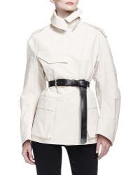 Donna Karan - Skinny Leather C-buckle Belt - Lyst