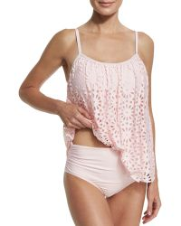 Luxe by Lisa Vogel - Aphrodite Floral Sway Tankini Swim Top - Lyst