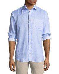 Peter Millar - Whirlwind Woven Linen Shirt - Lyst