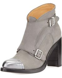 The Office Of Angela Scott - Mrs. Colin Suede Double-monk Boot - Lyst