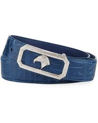 Stefano Ricci - Crocodile Belt With Palladium Eagle Buckle - Lyst