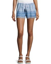Love Sam - Shella Drawstring-waist Embroidered Shorts - Lyst
