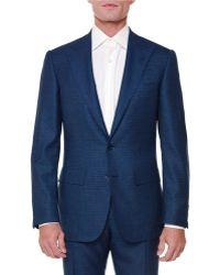 Stefano Ricci - Textured Peak-lapel Wool-blend Suit - Lyst
