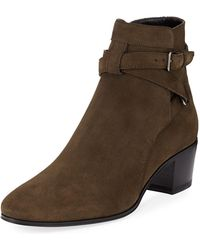 Jeffrey campbell France Wrap Strap Boots in Black   Lyst