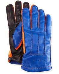 Etro - Tricolor Napa Leather Gloves - Lyst