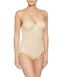 Tc Fine Intimates - Sheer Bodybriefer Strapless Shaping Bodysuit - Lyst