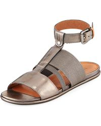 Gentle Souls - Ophelia Easy Flat Sandal With Stretch Strap - Lyst