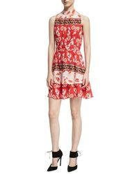 Parker - Aurora Sleeveless High-neck Mini Dress - Lyst