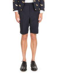 Thom Browne - Back-strap Wool Shorts - Lyst