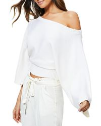Ramy Brook - Robyn Off-shoulder Wool Sweater - Lyst