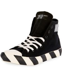Off-White c/o Virgil Abloh - Men's Striped-sole High-top Sneakers - Lyst