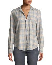 Frank & Eileen - Long-sleeve Button-down Cotton Top - Lyst